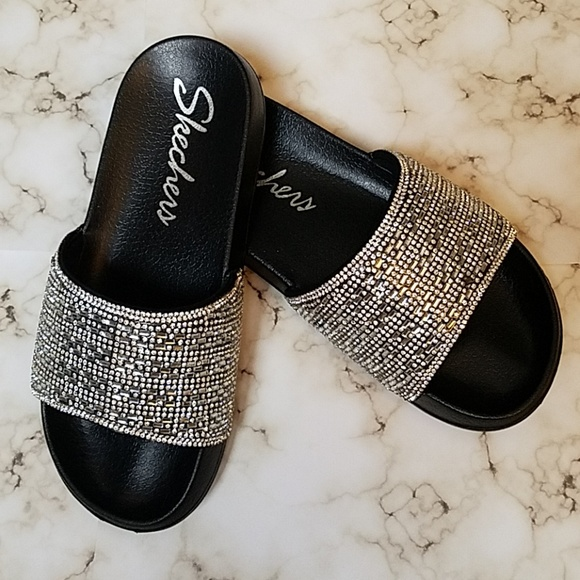 great variety styles choose latest exceptional range of styles 💎 Skechers Summer Chic Bling Slides NWT